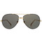 Gold plated aviator sunglasses
