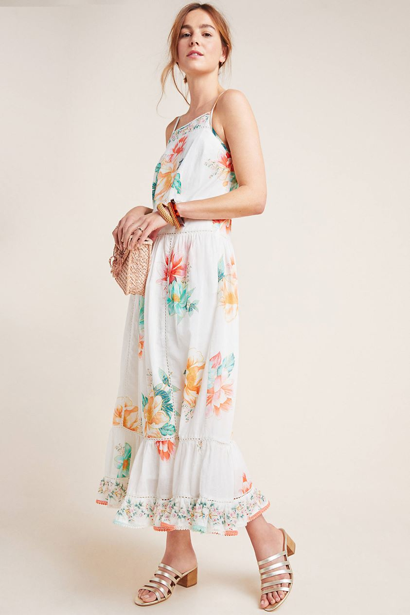Farm Rio for Anthropologie Lantanas Maxi Dress by in Assorted