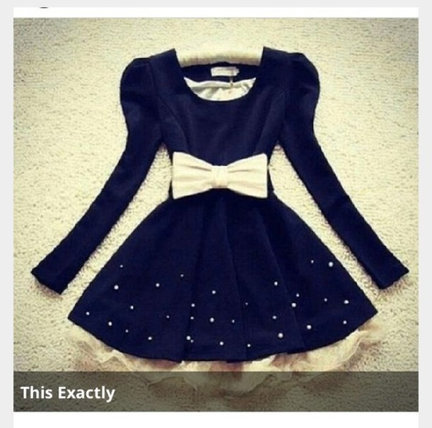 dress black fancy short