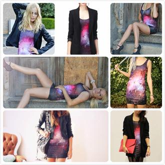 dress romwe romwe dress galaxy dress