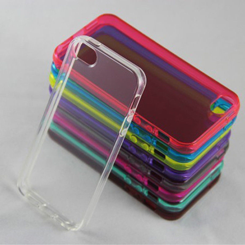 New soft silicone rubber case skin cover for iphone 5 5s back cover
