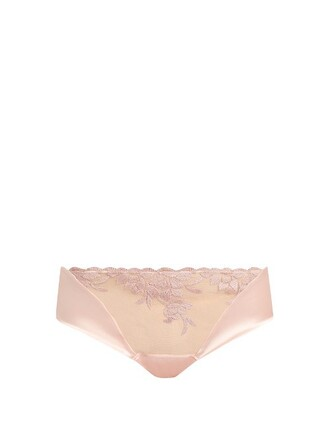 embroidered light pink light pink underwear