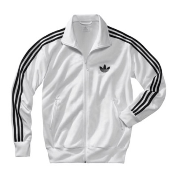 jacket white jacket adidas jacket full zip up