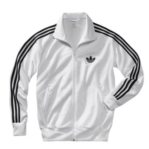 jacket adidas jacket full zip up white jacket