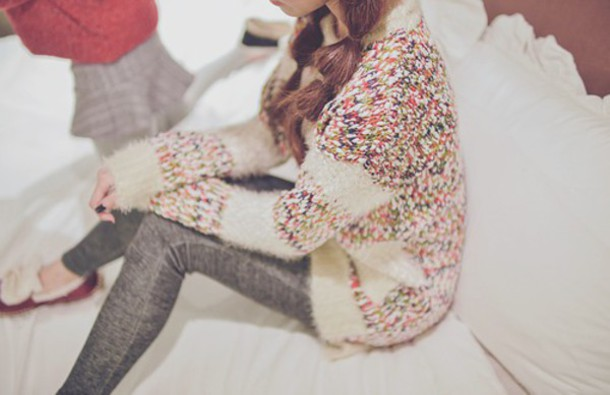 sweater multicolor kfashion korean fashion asian fashion asian