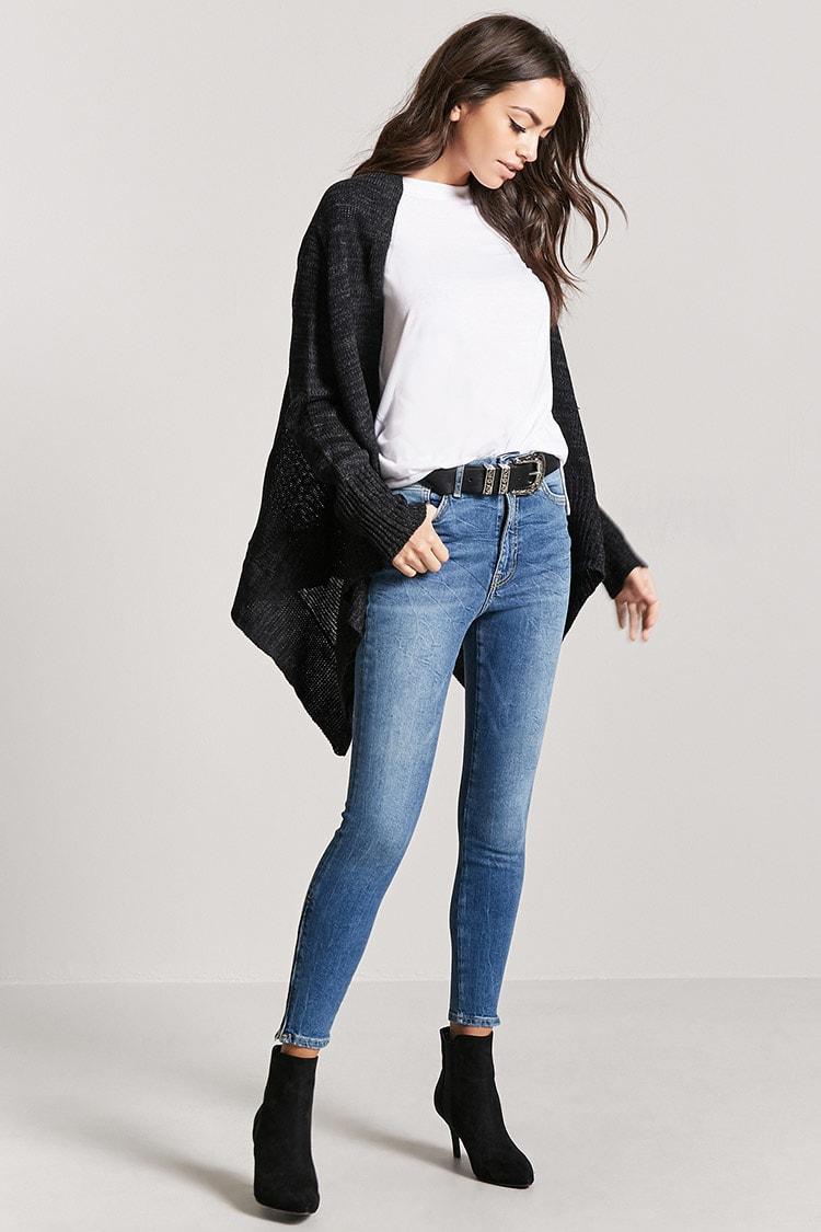 High-Waist Ankle Jeans