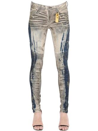 jeans denim gold blue
