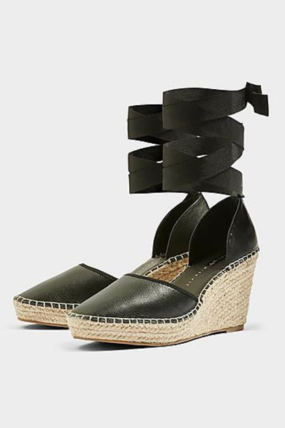 fit wedges black shoes