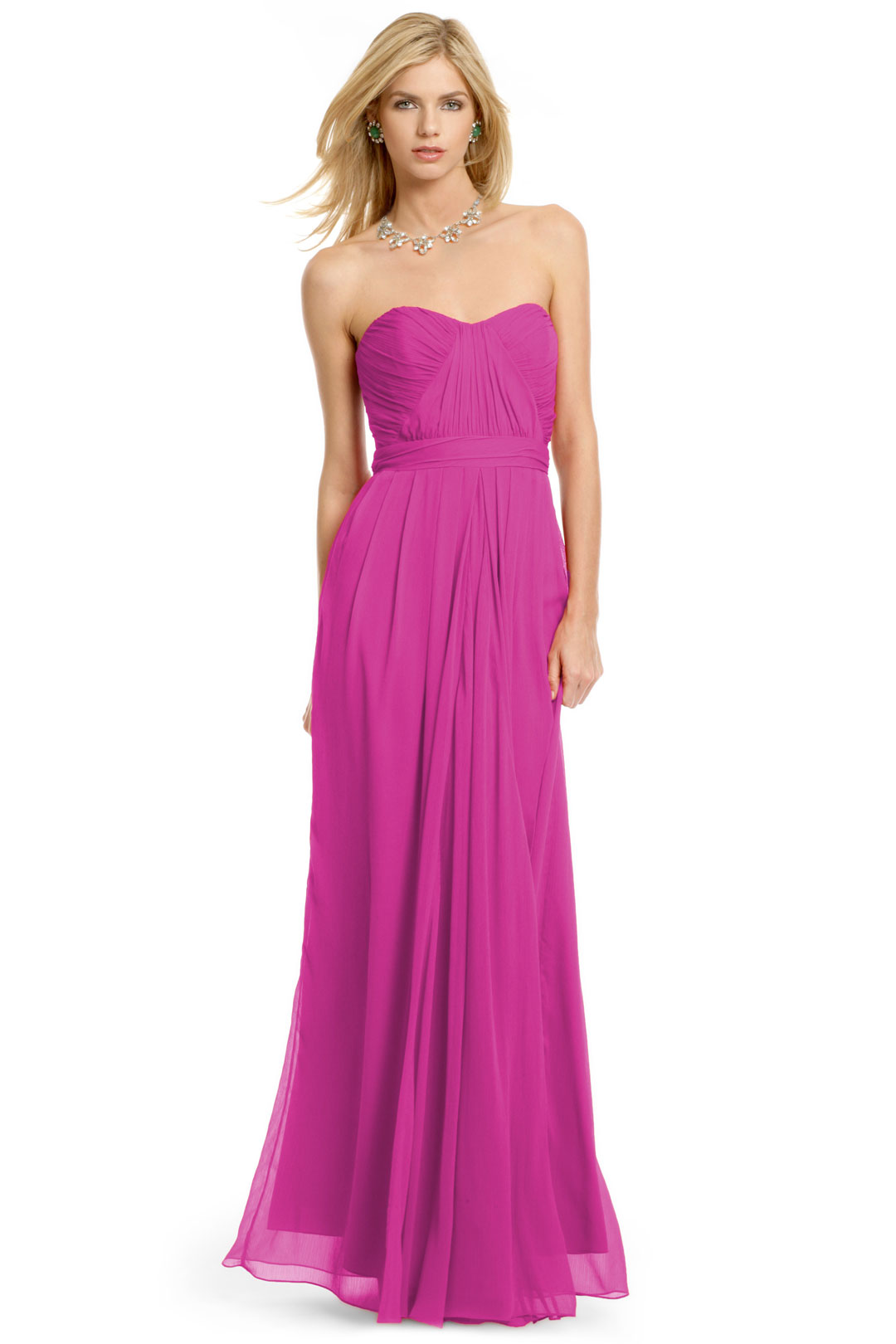 Fluorescent Chiffon Gown by Badgley Mischka at $80 | Rent The Runway