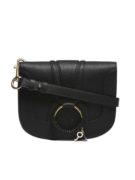 See by Chloé See By Chloé Braided Ring Sling Shoulder Bag in nero