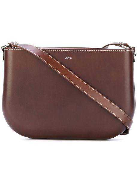 A.P.C. women bag shoulder bag leather brown