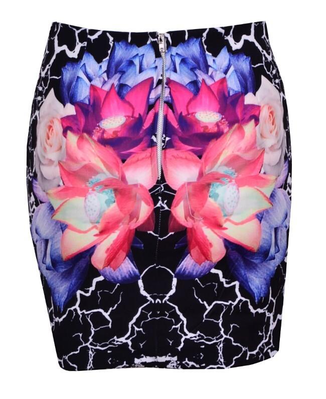 Floral bloom skirt