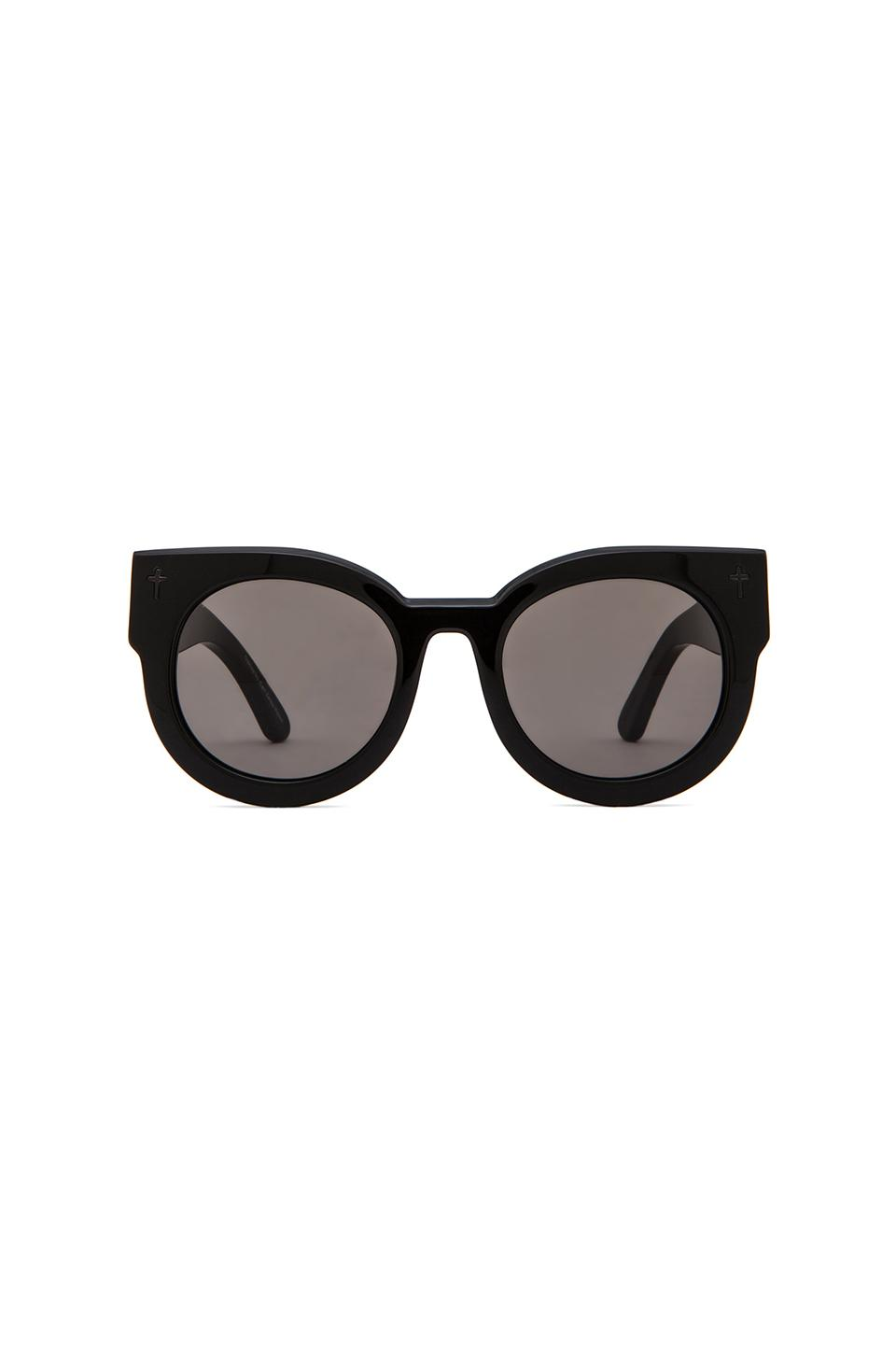 VALLEY EYEWEAR A Dead Coffin Club in Gloss Black & Black Lens from REVOLVEclothing.com