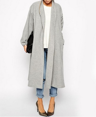 coat grey grey coat fashion coat fashion fall outfits spring style blog blogger stylish fashionista georgous fashionable coat asos