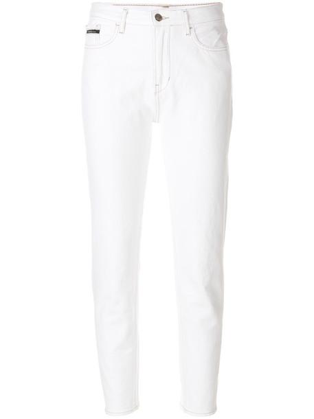 jeans women fit white cotton