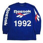 sweater,reebok sweat,Reebok,blue,bleu,pull,haut bleu