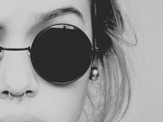 sunglasses shades black hipster goth hipster round sunglasses style fashion vintage lunette de soleil ronde noir petite black sunglasses sun