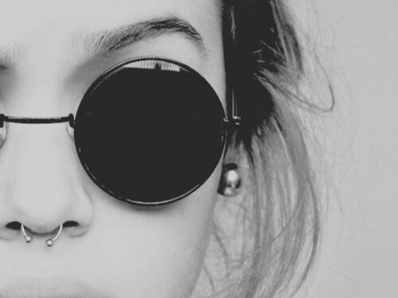 sunglasses circle shades black hipster goth hipster round sunglasses style