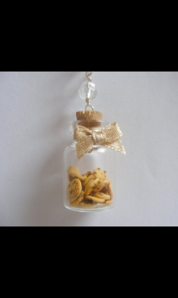 necklace jewels bottle bottle necklace cookie