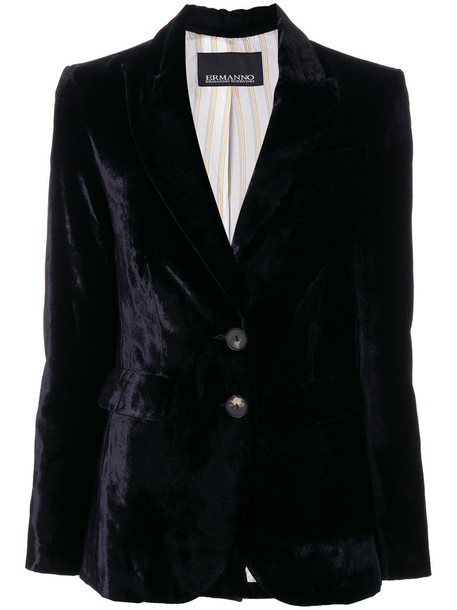 Ermanno Ermanno blazer women black silk jacket