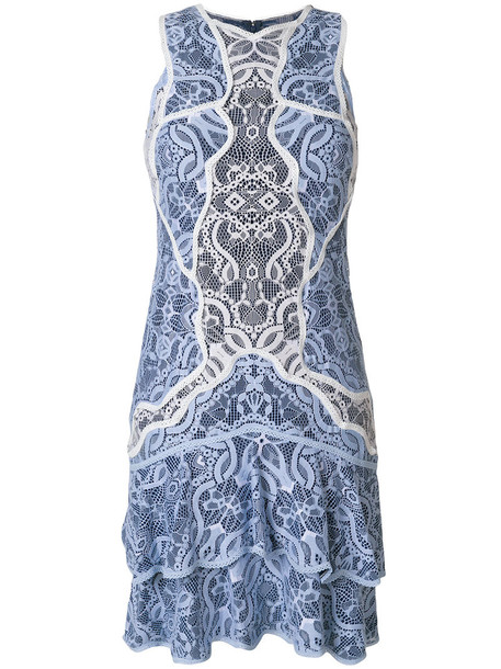Jonathan Simkhai dress lace dress women lace cotton blue silk