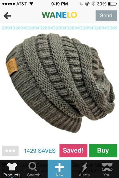 grey slouchy hat slouchy beanie
