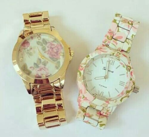 jewels girl accessories watch bracelets fashion floral