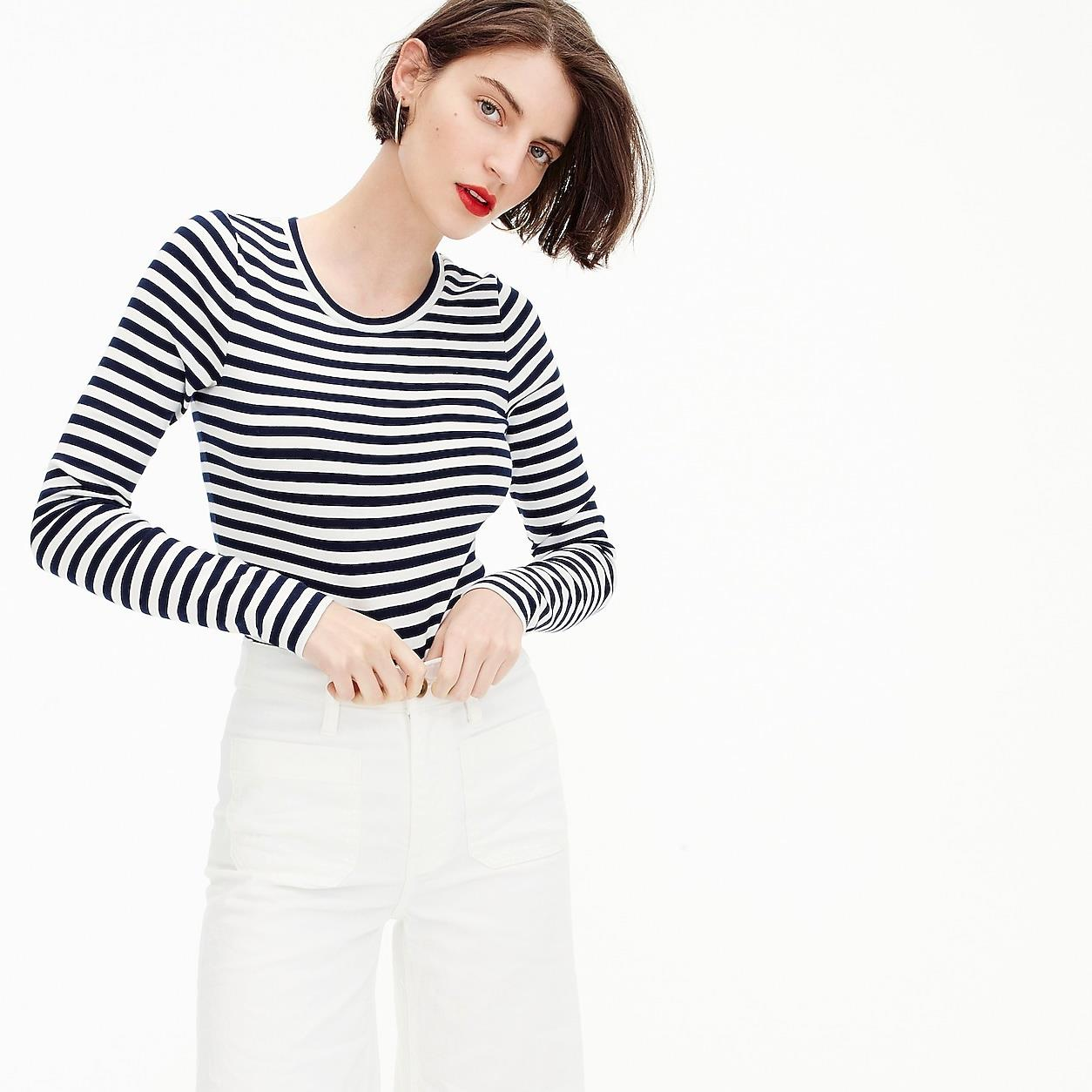 Slim Perfect Long-Sleeve T-Shirt In Stripes