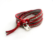 jewels,jewelry,bracelets,boho,red,acsessories,valentines day,wrap