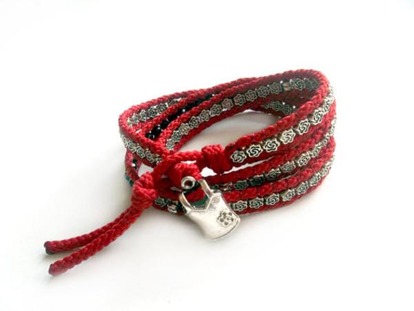 jewels jewelry bracelets boho red acsessories valentines day wrap