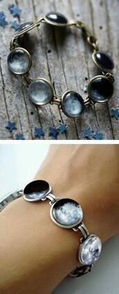 jewels,moon,moon body jewelry,wolf,bracelets,prom dress,moon cycle,boho,bohemian bracelet,bohemian,necklace