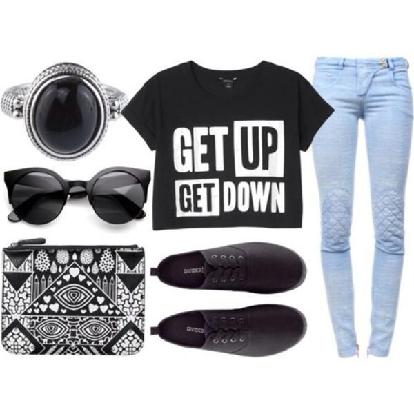 jewels h&m shoes jeans bag sunglasses