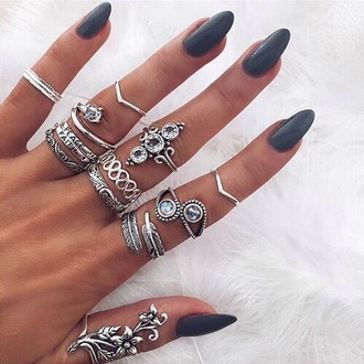 jewels jewelry boho boho chic boho jewelry bohemian silver silver ring knuckle ring ring rings and tings ring stack