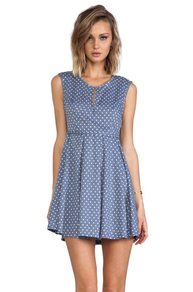 minkpink dress country girl dress blue