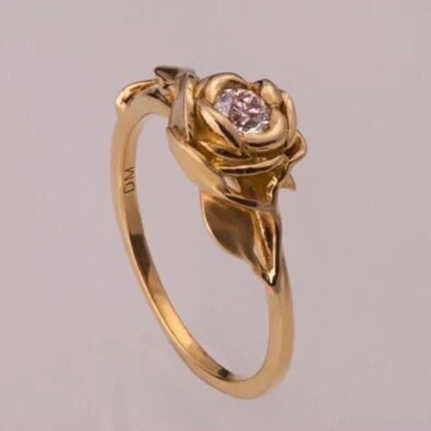 ring gold rose