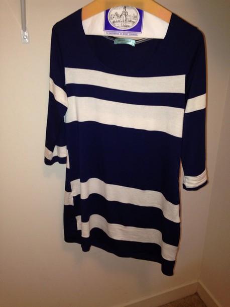 shirt chris & carol: blue & white striped tunic