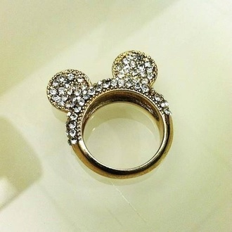 jewels ring mickey mouse strass hat home accessory rings and tings minnie mouse ears sparkle bagues
