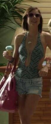 silver,jessica stroup,90210,pink bag,red bag,bag,swimwear