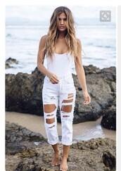 jeans,white/black boyfriend jean