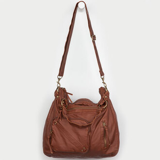 bag brown brown leather tote bag straps zip pockets love leather tote bag