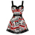 HELL BUNNY GOSSIP NEWSPAPER PUNK EMO MINI PROM DRESS