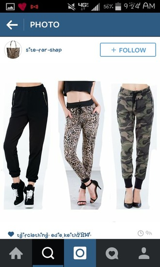 pants cheetah camo joggers
