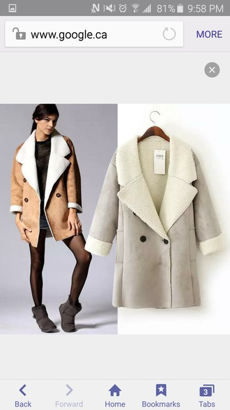 coat shearling warm winter coat winter jacket wool suede suede coat suede jacket tan camel camel coat