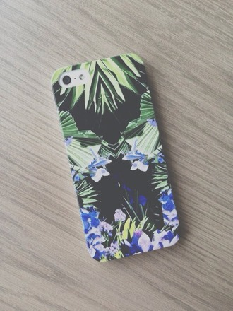 bag iphone iphone case jewels iphone 5 case palm tree print mirrored phone cover tropical tropical case cool indie hipster black pastel phone case iphone 4 case white mirror blue cover iphone cover iphone 5s tree flowers violet green boy guys accessories dress not dress phone iphone5s blue iphone case cute nice tropical geometric vintage nature nature print