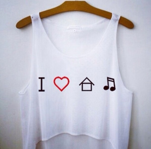 blouse love house music tank top