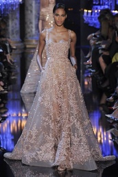 couture,nude,embellished,wedding dress,gown,elegant,PLL Ice Ball,long prom dress,dress,pearl,long dress,party dress,elie saab