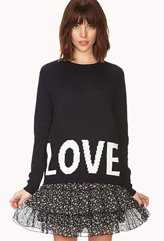 Romantic-At-Heart Love Sweater | FOREVER21 - 2000072969