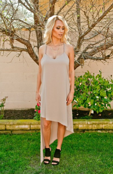 dress dress beige dress asymmetrical