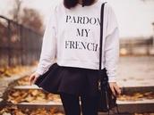 sweater,b&w,pardon my french