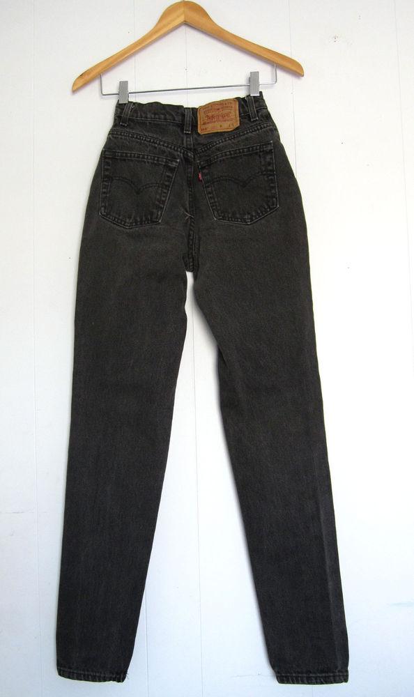 Vintage Black 512 Levi S High Waisted Mom Jeans Tapered Slim Skinny